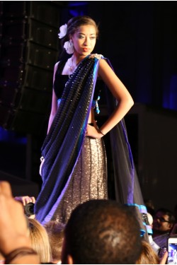 Bridal Black Lehenga Saree