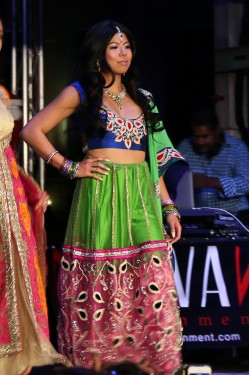 Bridal Green and Purple Lehenga