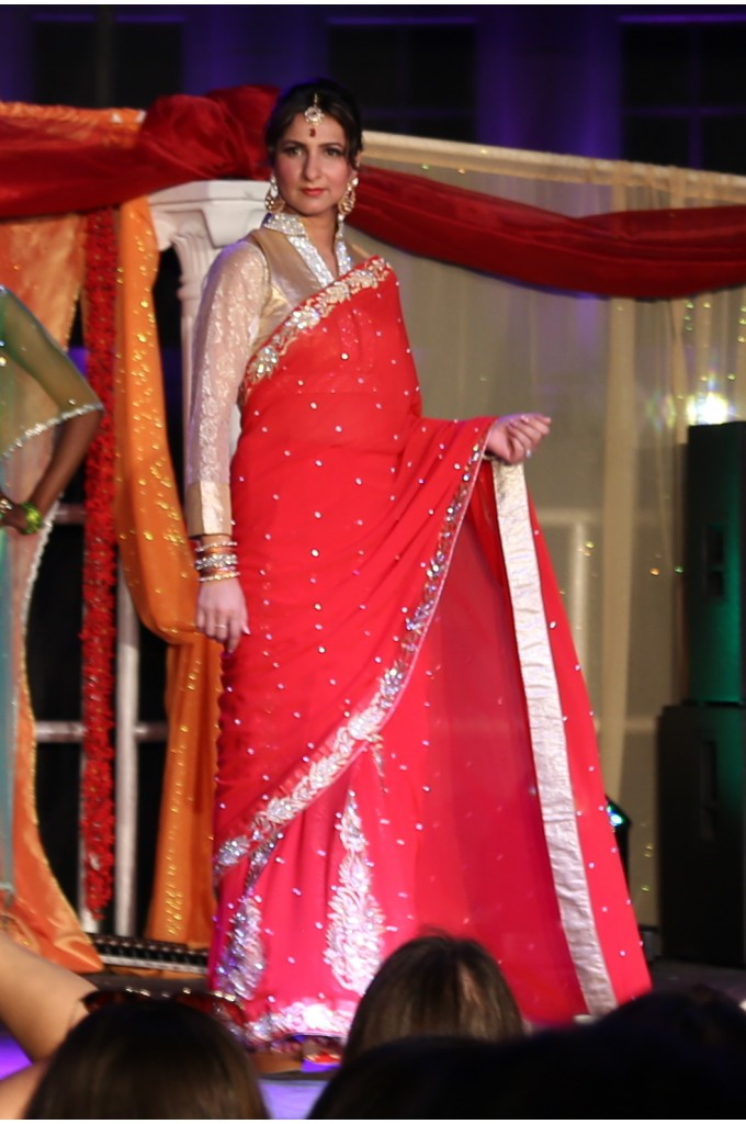 Bridal Red and Gold Georgette Saree