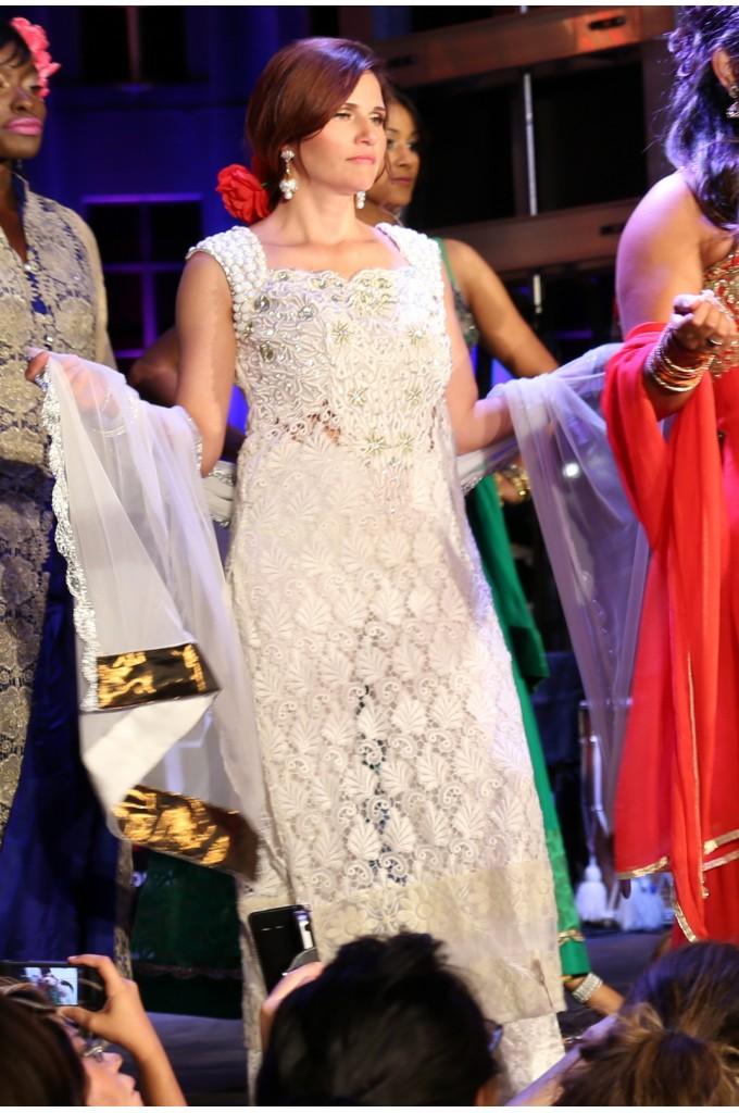 Bridal White Straight Palazzo Suit