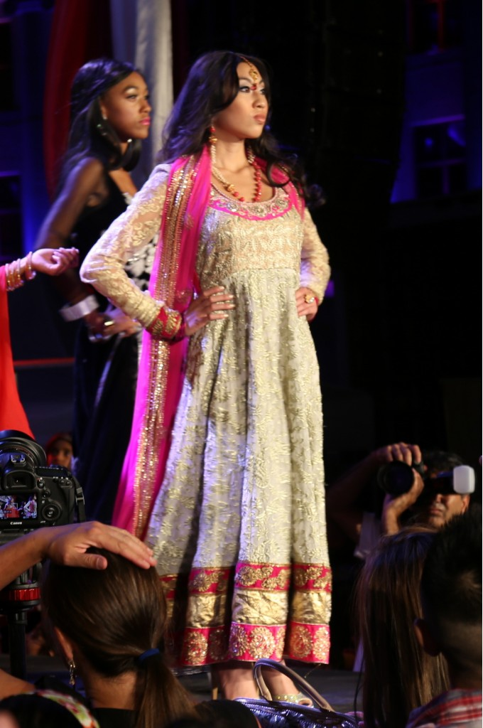 Bridal Pink and Beige Anarkali Suit