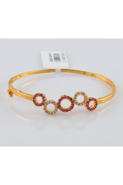 American Diamond Studded Bracelet Rose Gold Finish