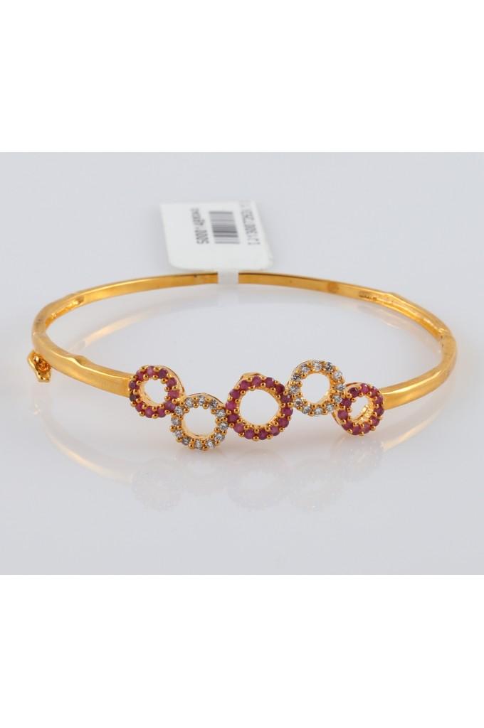 American Diamond Studded Bracelet Rose Gold Finish
