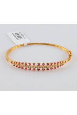 Cubic Zirconia Studded Rose gold Finish Bracelet