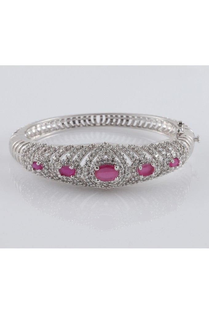 Cubic Zirconia Bracelet Ruby Stones