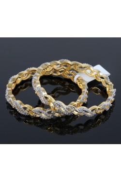 American Diamond Studded Contemporary Bangles