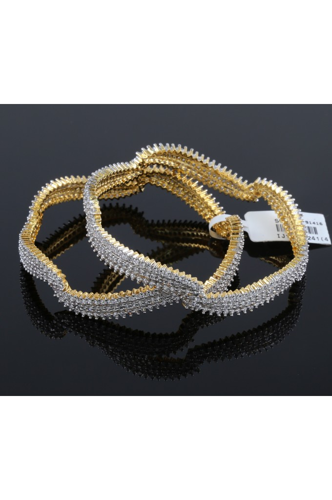 American Diamond Contemporary Bangles