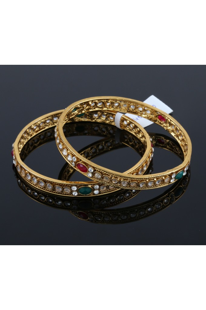 Antique Bangles with White Stones