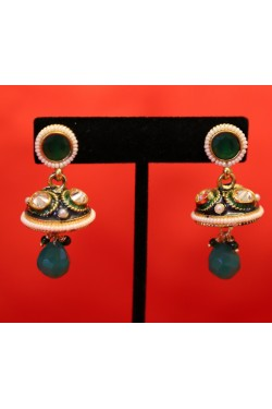 Antique Small Polki Jhumkas
