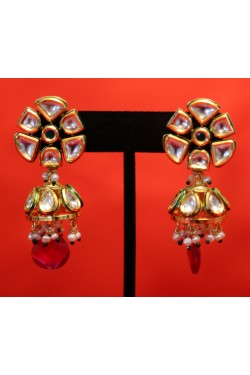 Kundan Jhumka Earrings