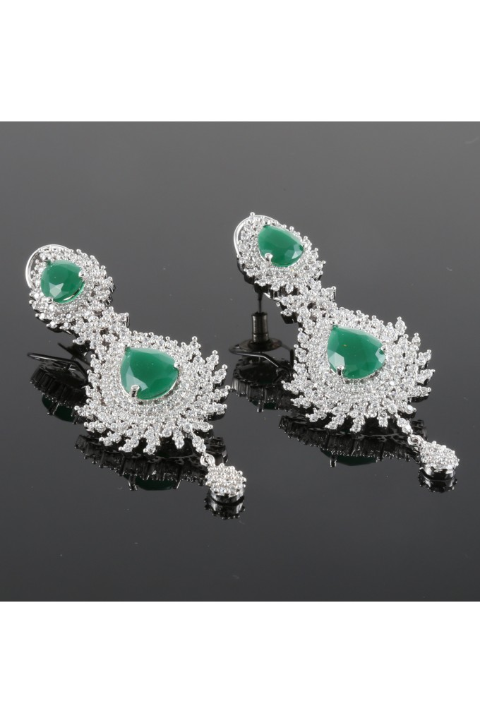 American Diamond Studded Dangling Earrings