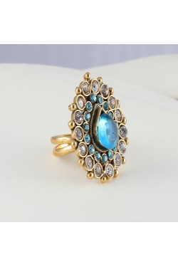 Antique Ring with Blue Stones