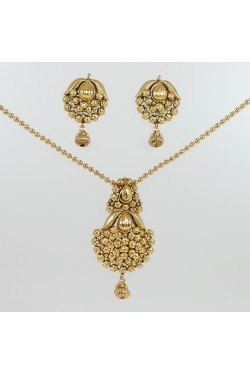 Ethnic Gold Finish Pendant Set