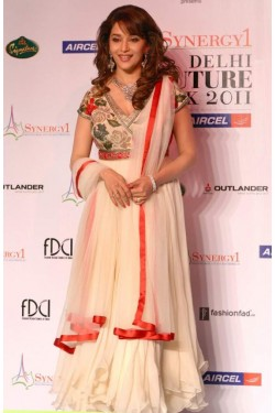 Madhuri Dixit Off-White Georgette Anarkali