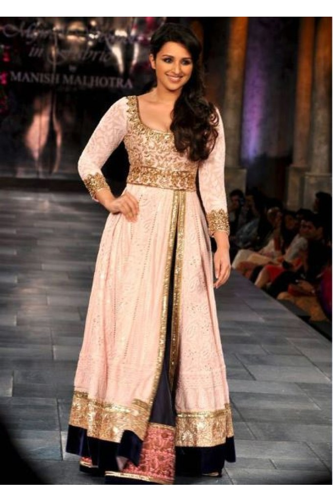 Parineeti Chopra Long Pink Designer Anarkali