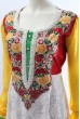 White Yellow Red Georgette and Net Anarkali